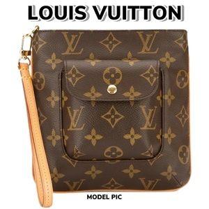 Louis Vuitton Monogram Partition Wristlet (O/S)